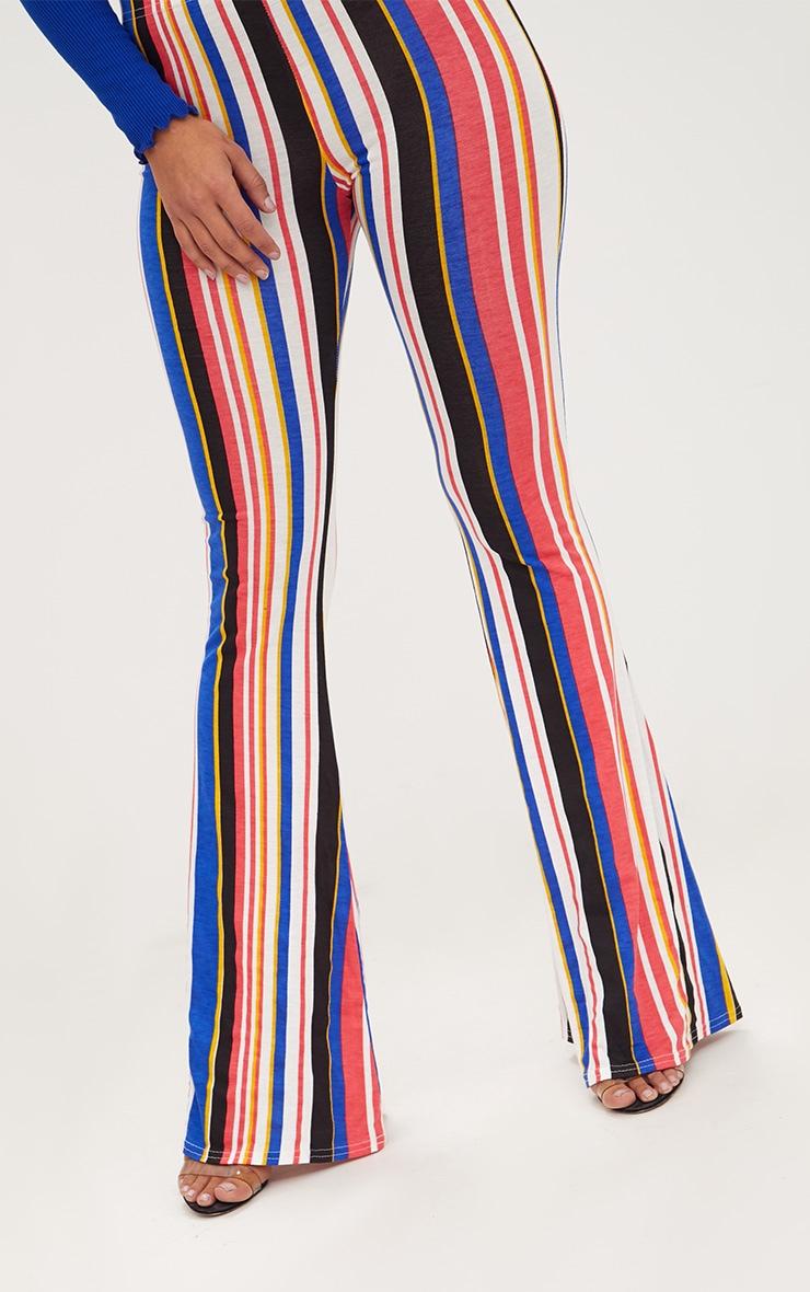Multi Jersey Stripe Flared Trousers 5
