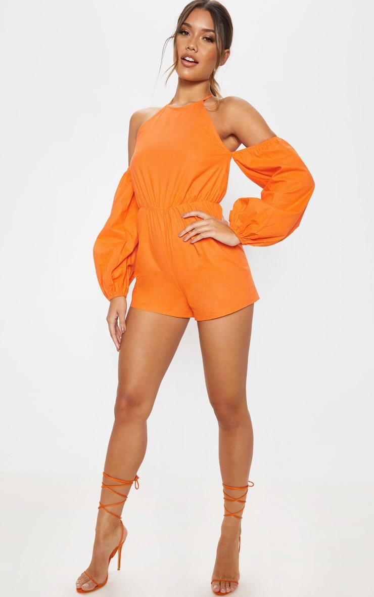 Orange Halterneck Romper 4