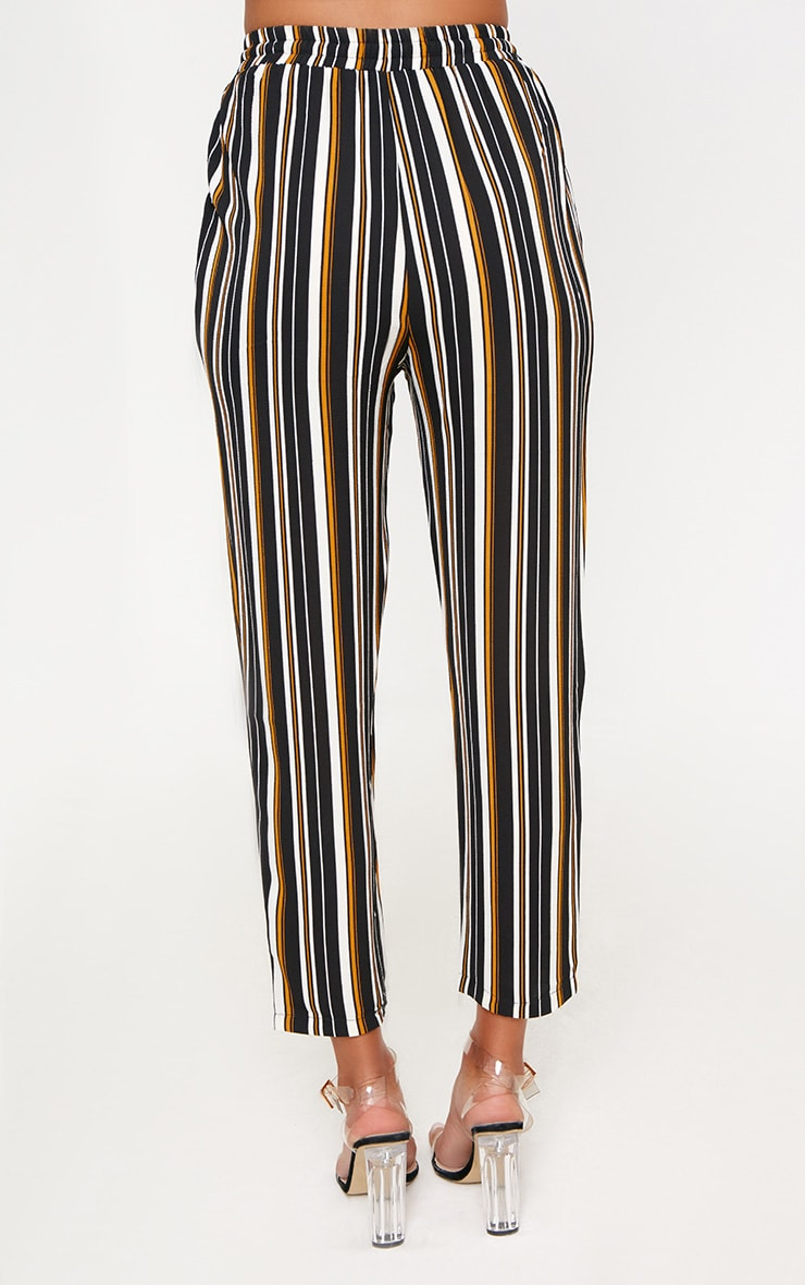 Yellow Stripe Casual Trousers 4