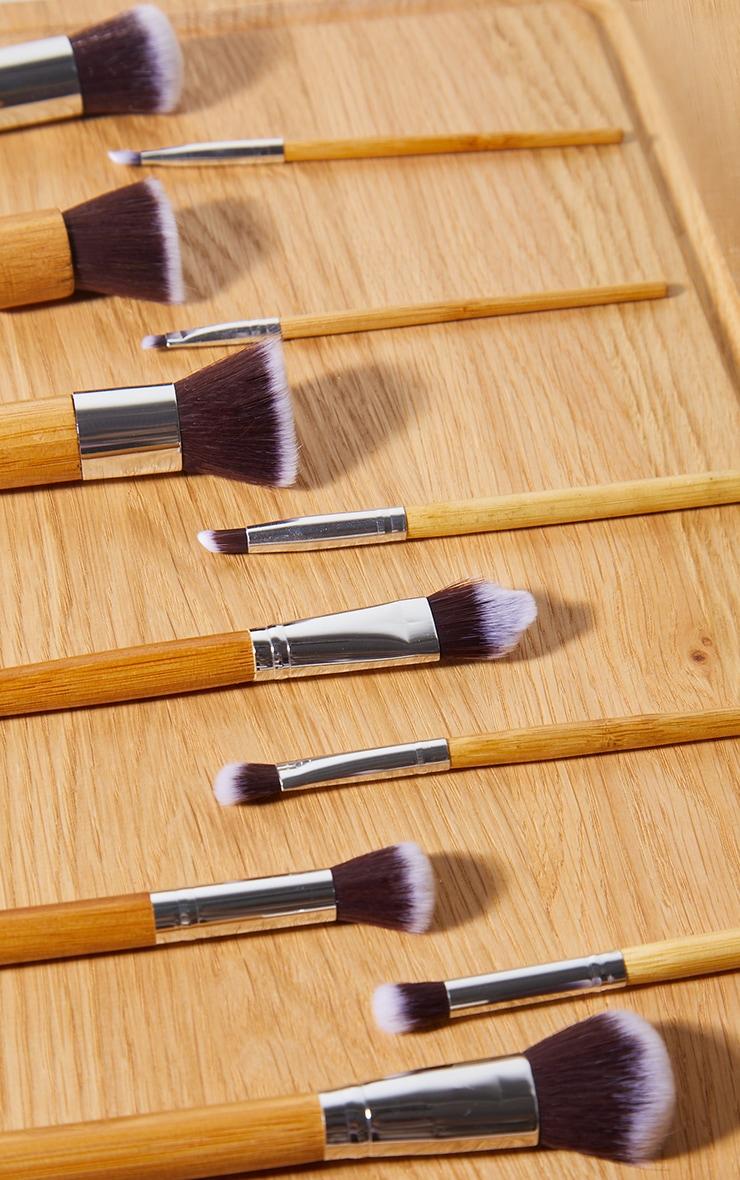 Zoe Ayla Professional 11 Piece Bamboo Eco Make-Up Brush Set With A Fabric Case 3