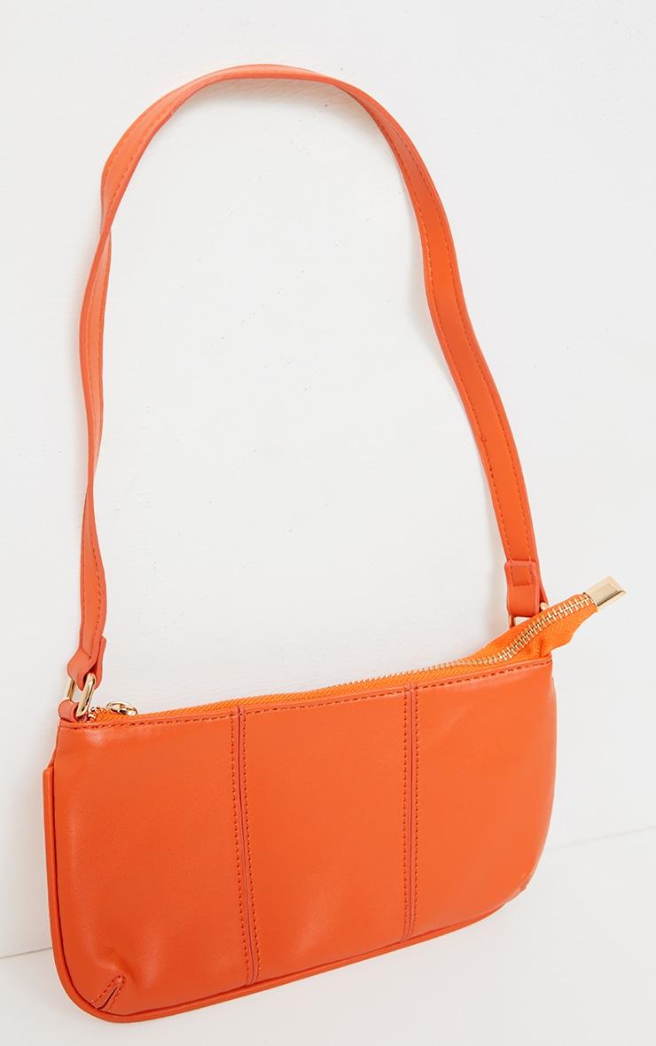 Orange Stitch Detail Shoulder Bag 2