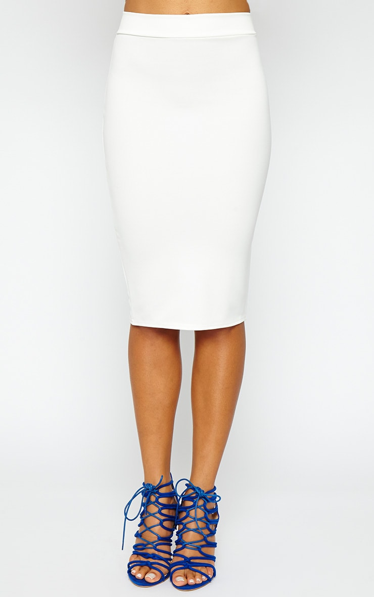 Janine Cream Midi Skirt 2