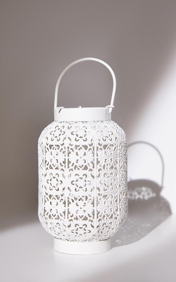 White Small Metal Lantern 5
