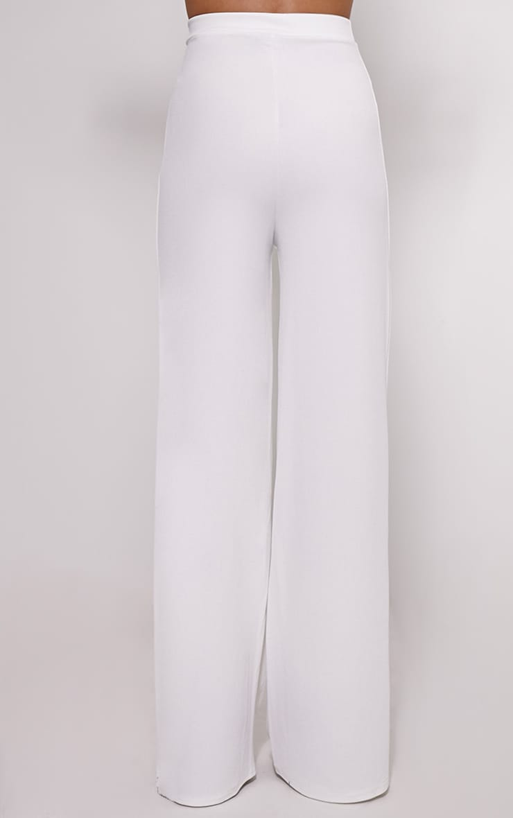 Solomon Cream Crepe Trousers 4