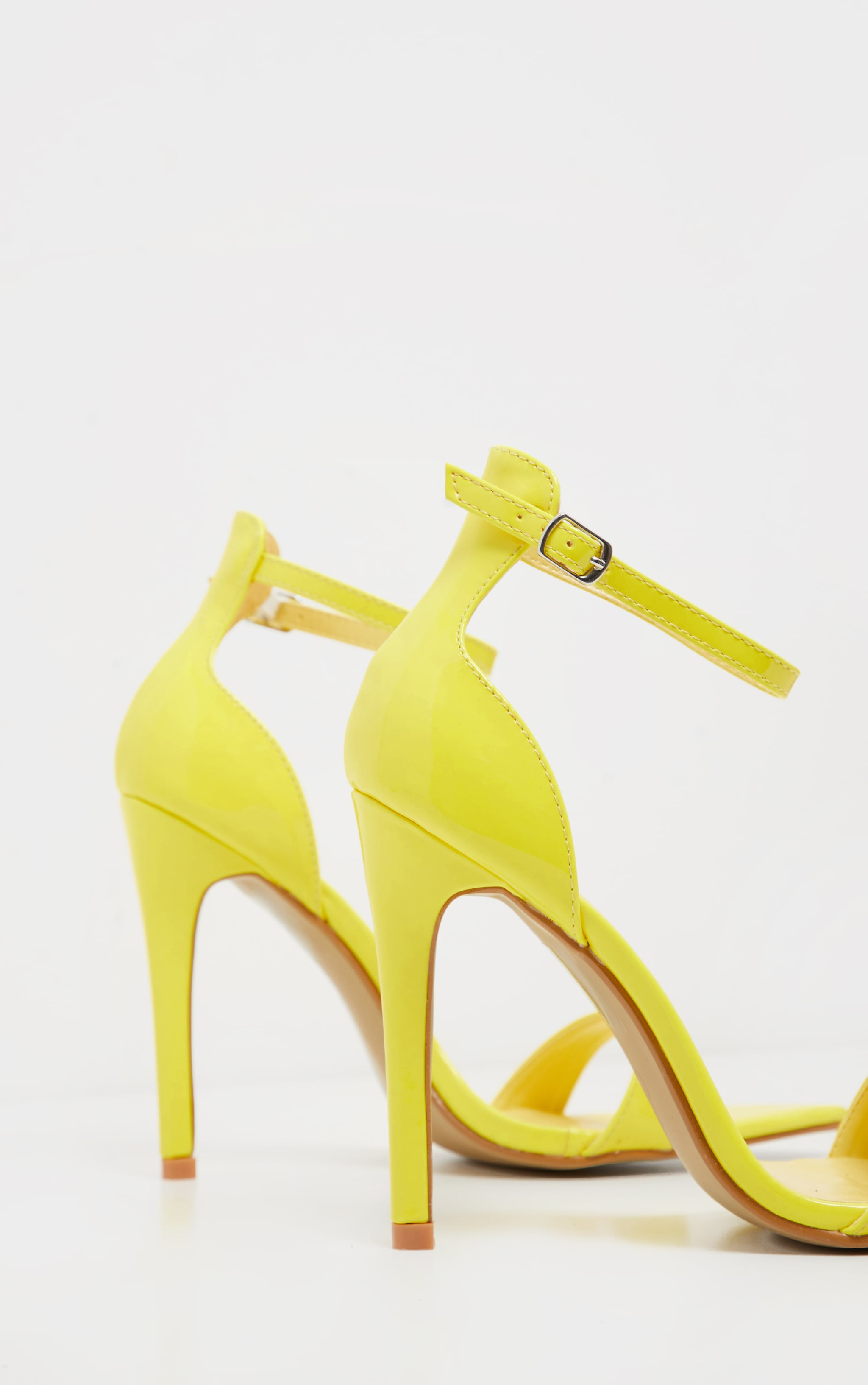 Neon Yellow Point Toe Strappy Sandal 4