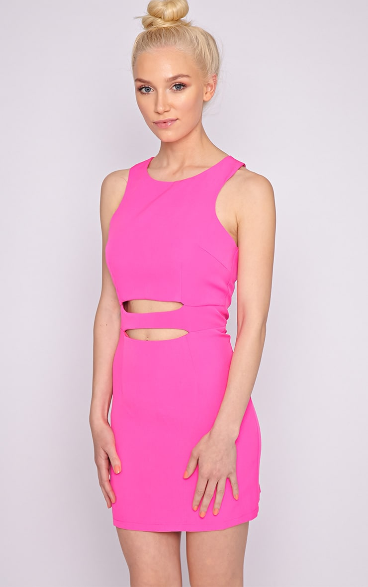 Blair Pink Cut Out Dress 1