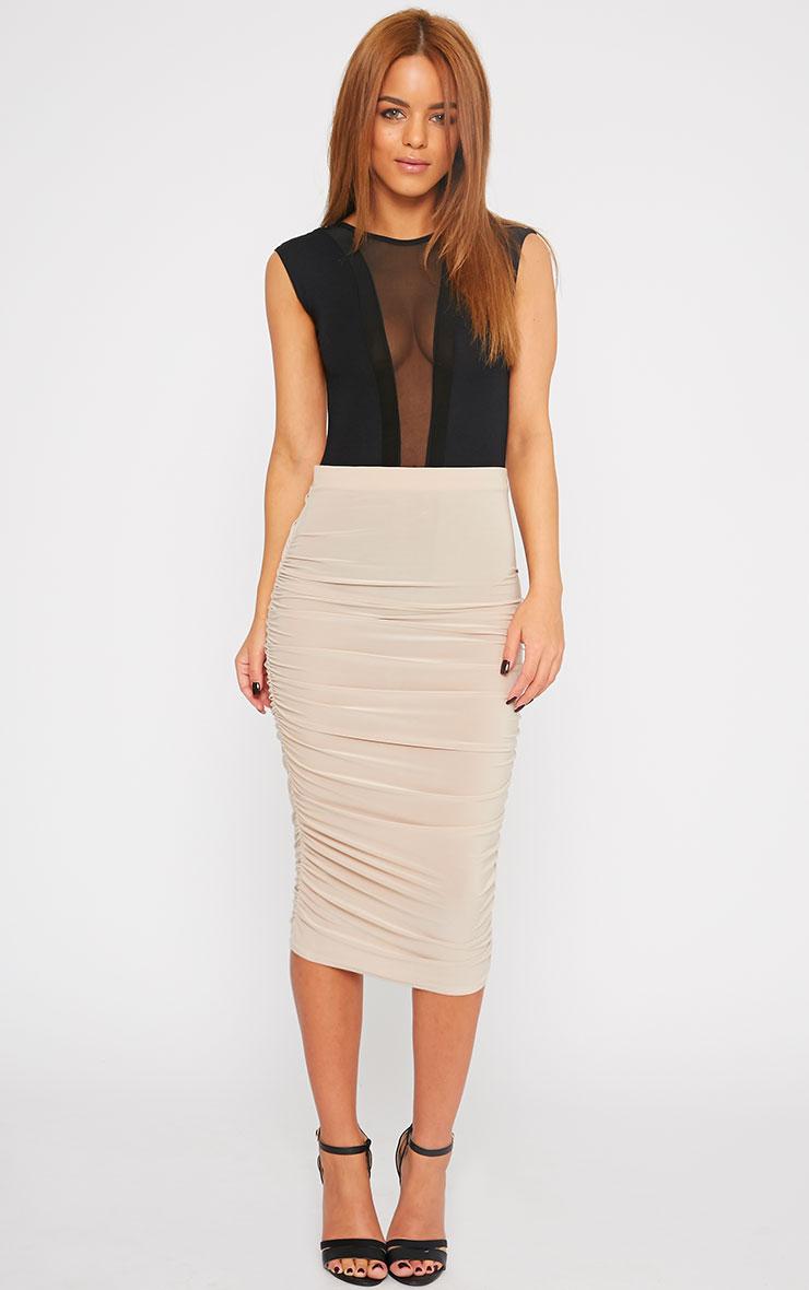 Zara Black Mesh Front Bodysuit  3