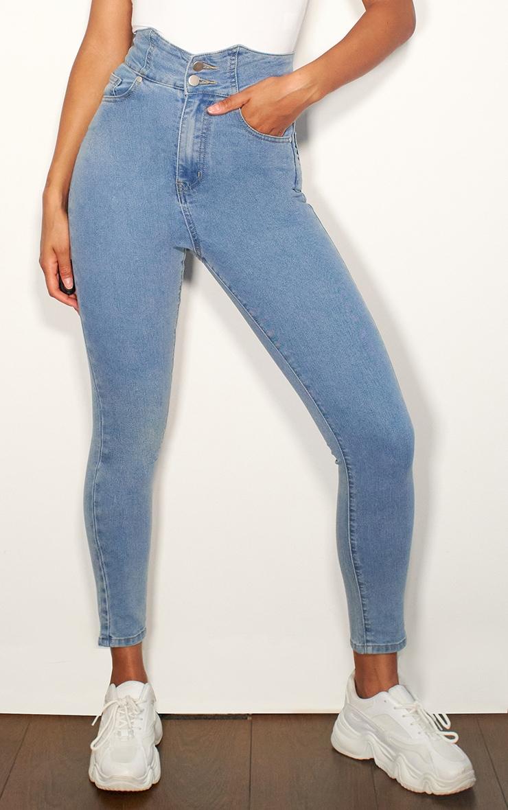 Light Blue Wash Super High Waist Disco Jeans 2