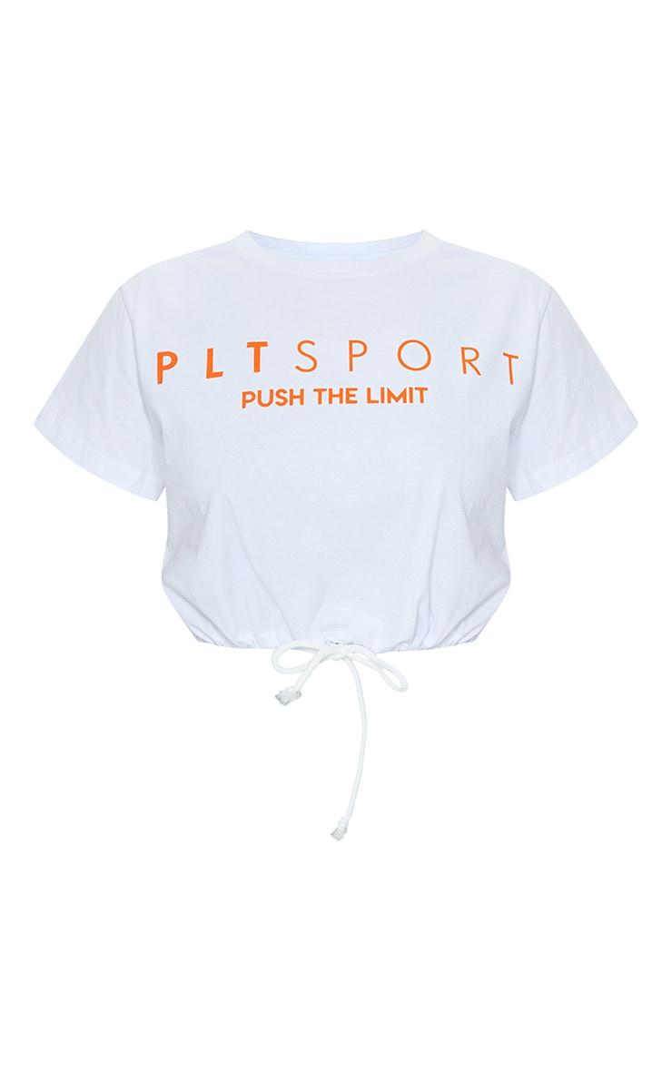 PRETTYLITTLETHING White Sport Tie Crop Top 6