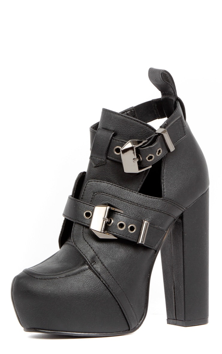 Shannon Leather Platform Buckle Boots 2