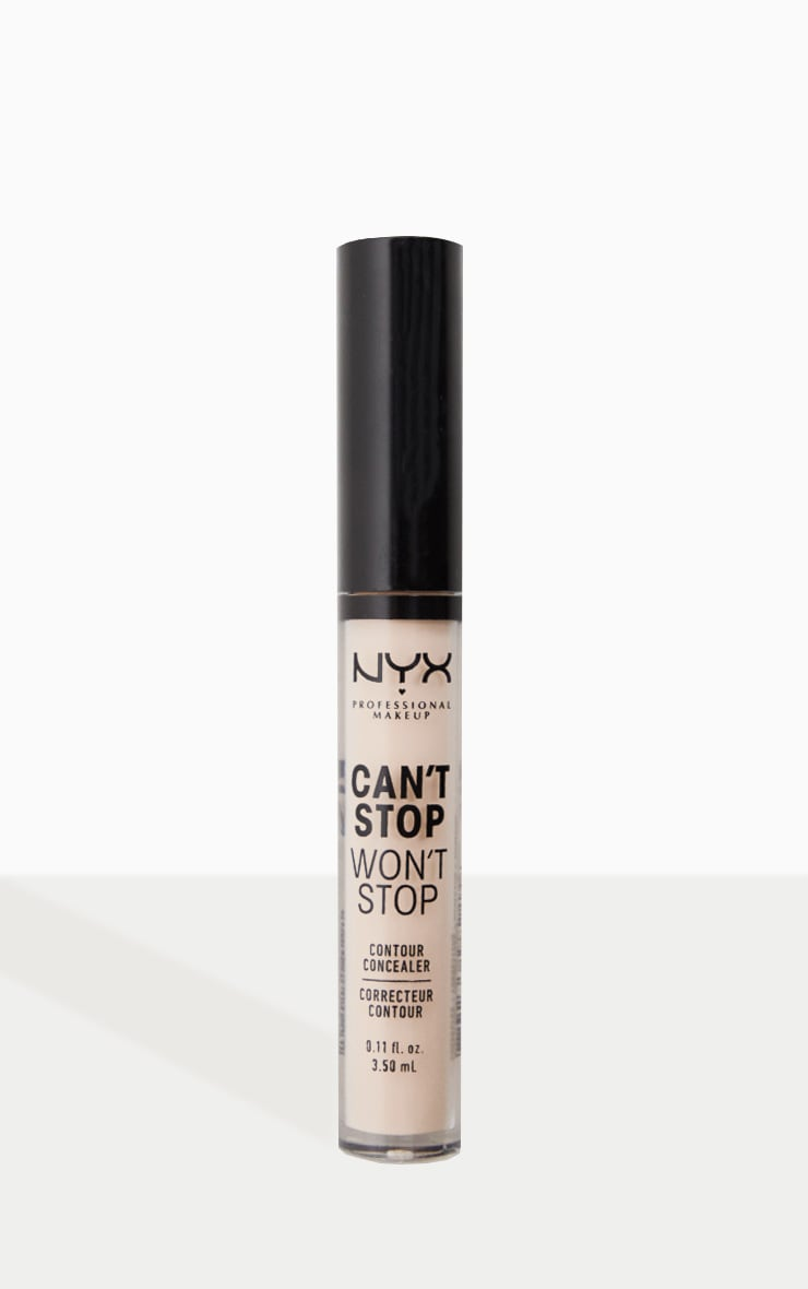 NYX Professional Makeup Can't Stop Won't Stop Contour Concealer Light Ivory 1