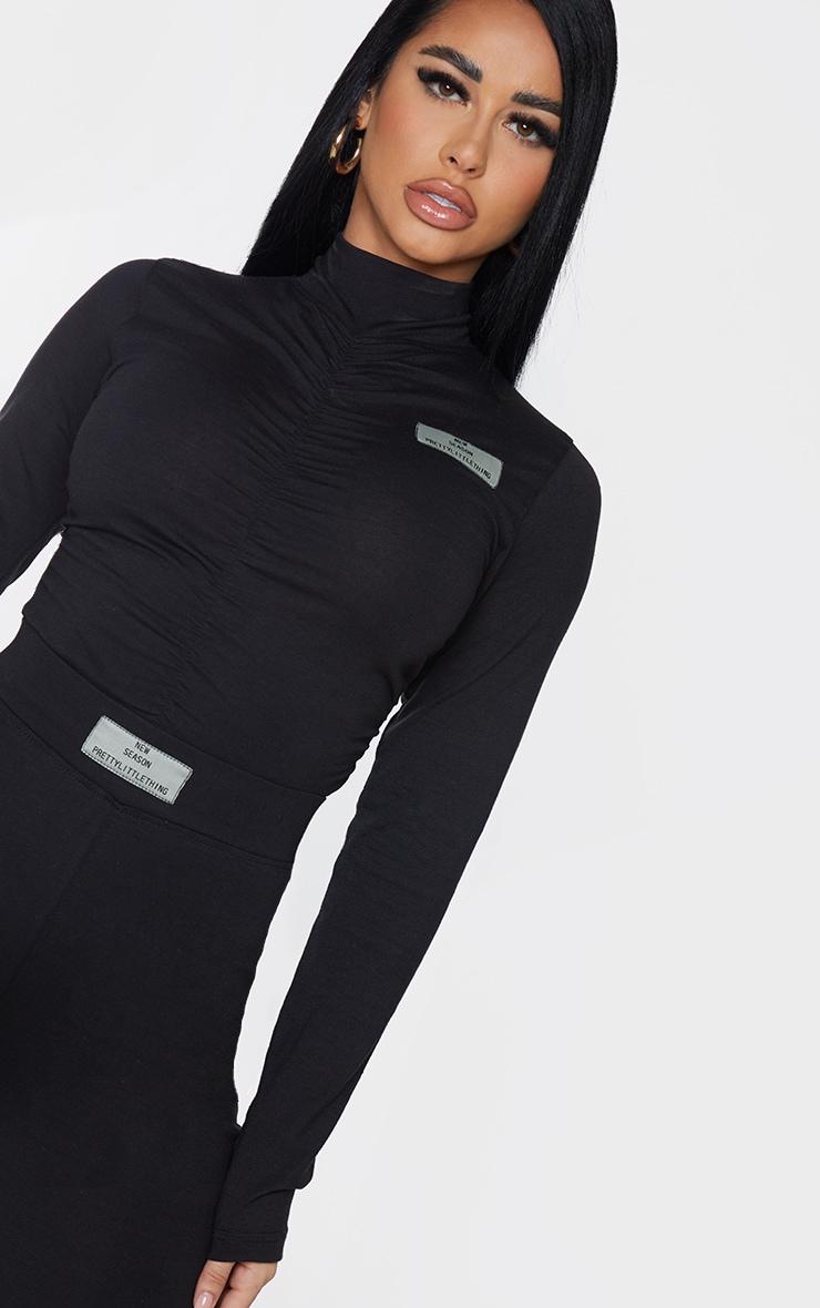 PRETTYLITTLETHING Shape Black New Season Ruched Bodysuit 4