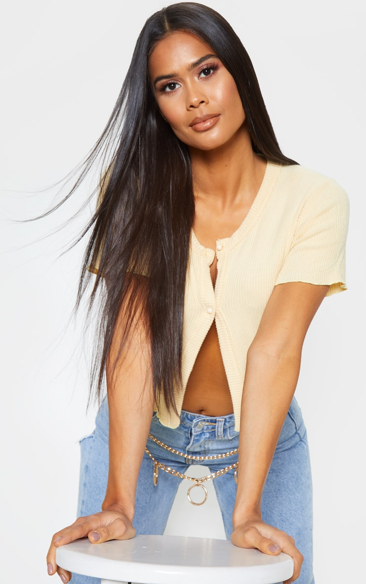 Sand Brushed Rib Button Front Short Sleeve Top 5