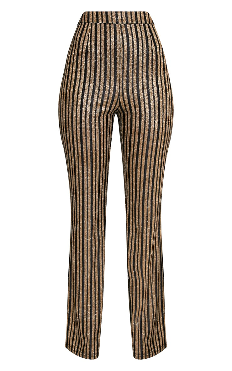 Lashelle Black Sparkle Stripe Trousers 3