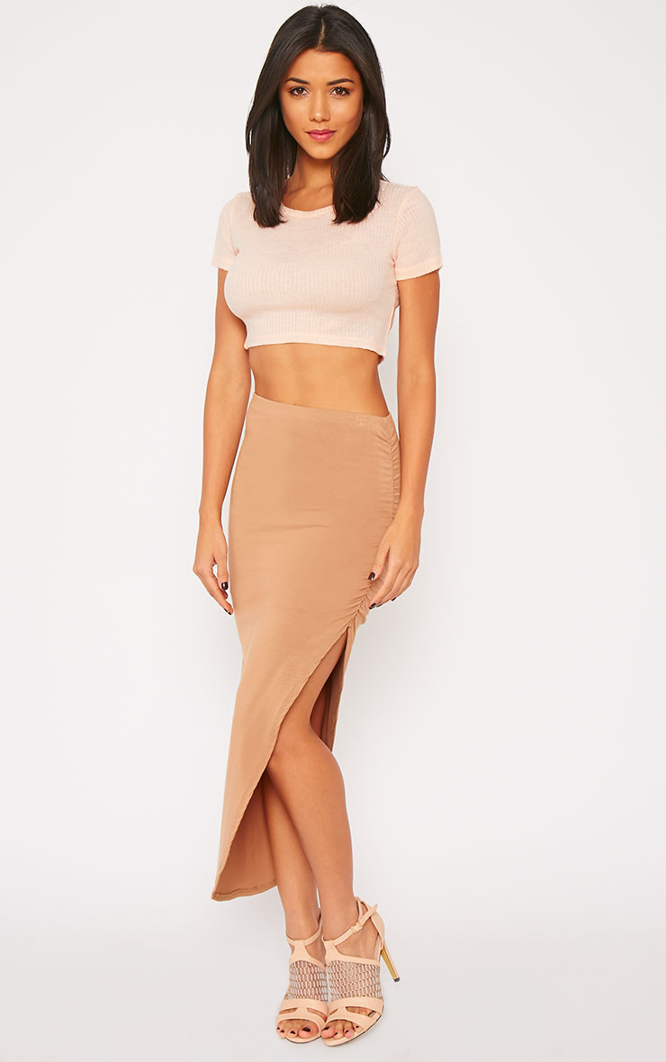 Basic Nude Rib Crop Top 3