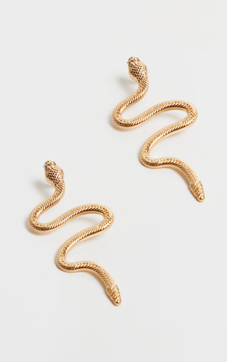Gold Snake Earrings 2