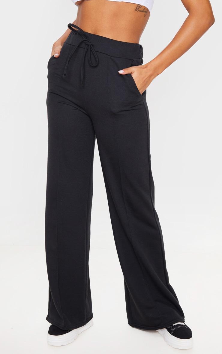 Black Wide Leg Track Pants 2