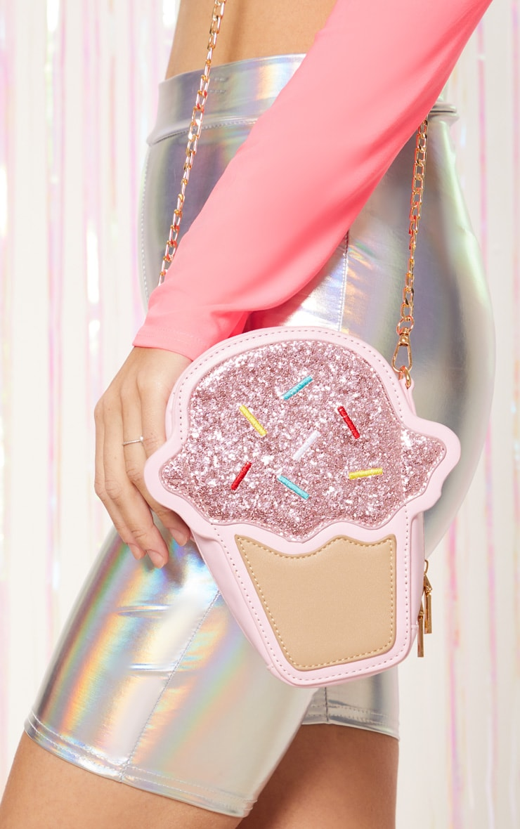 pink-ice-cream-cross-body-bag by prettylittlething