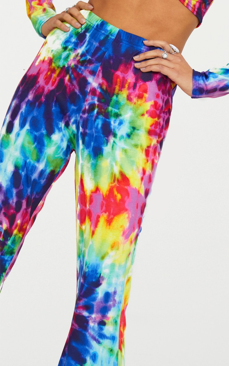 Multi Tie Dye Flared Trousers 4