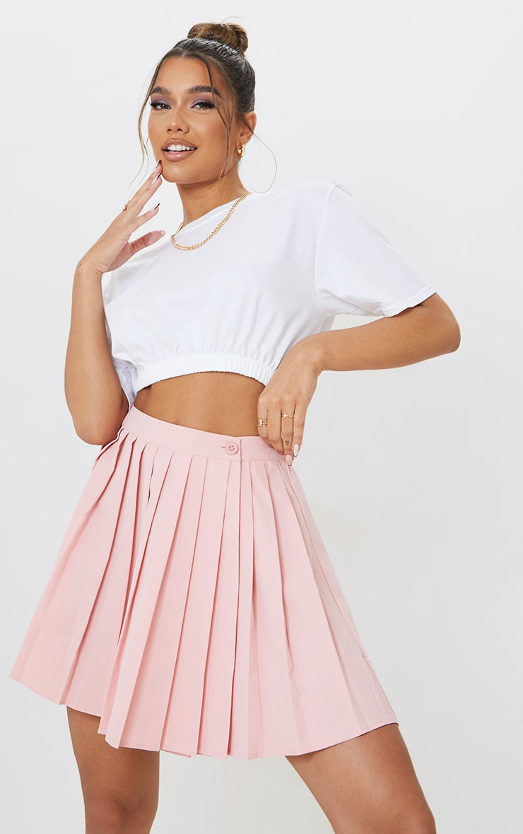 Bubblegum Pink Peach Skater Skirt 4