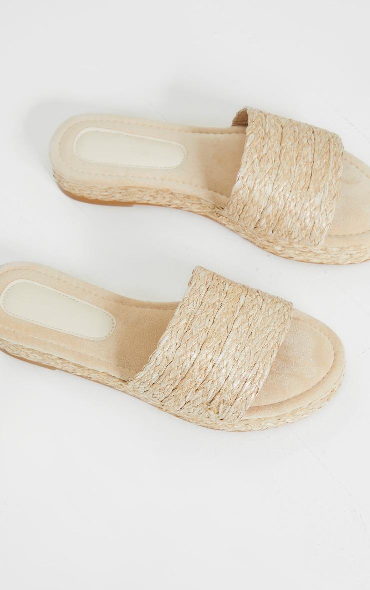 Natural Raffia Espadrille Mule Sandals 4