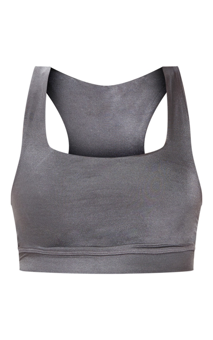 Charcoal Sports Crop Top 2