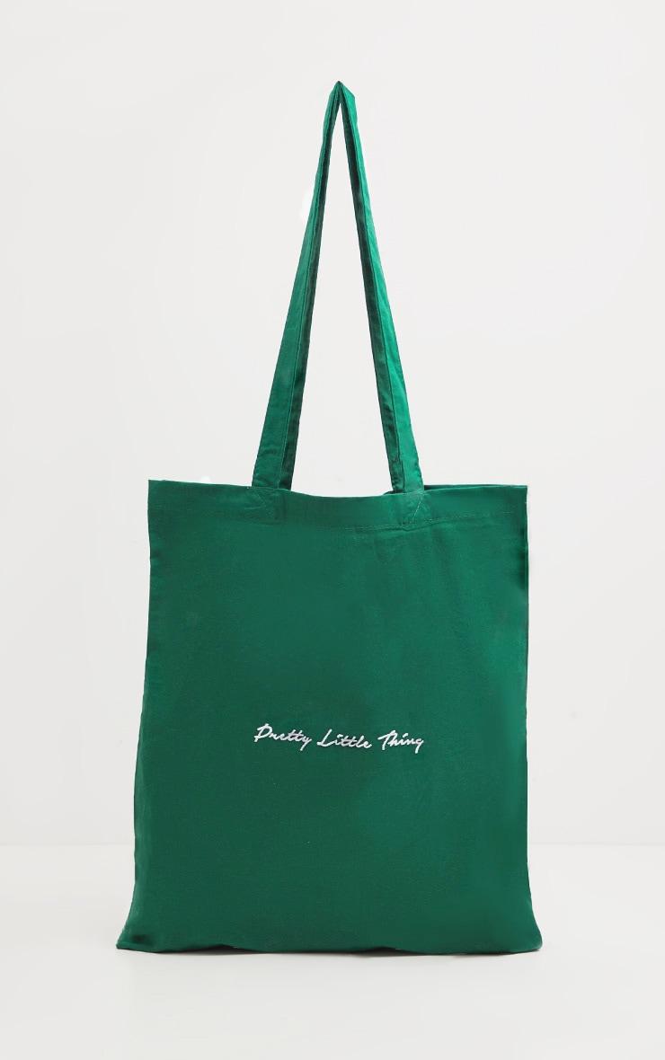 PRETTYLITTLETHING Bottle Green Tote Bag 2