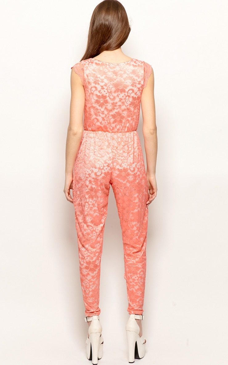 Angelica Coral Lace Jumpsuit 2