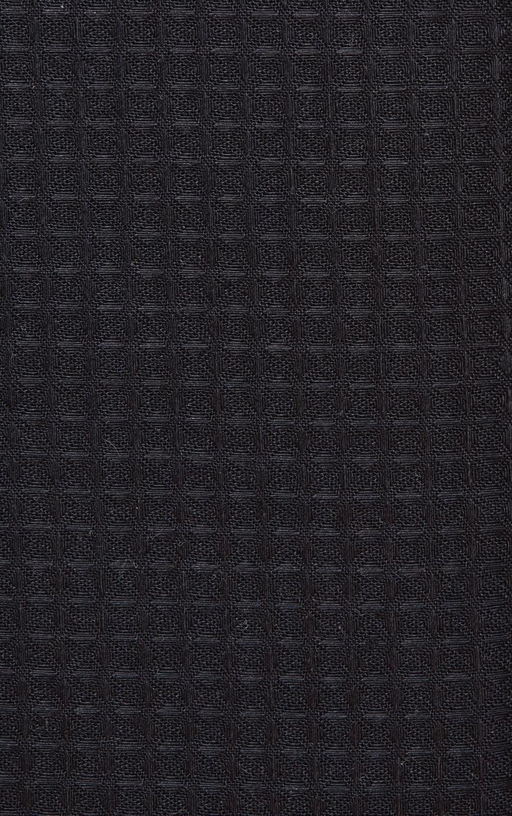 PRETTYLITTLETHING Black Waffle Single Duvet Set 4
