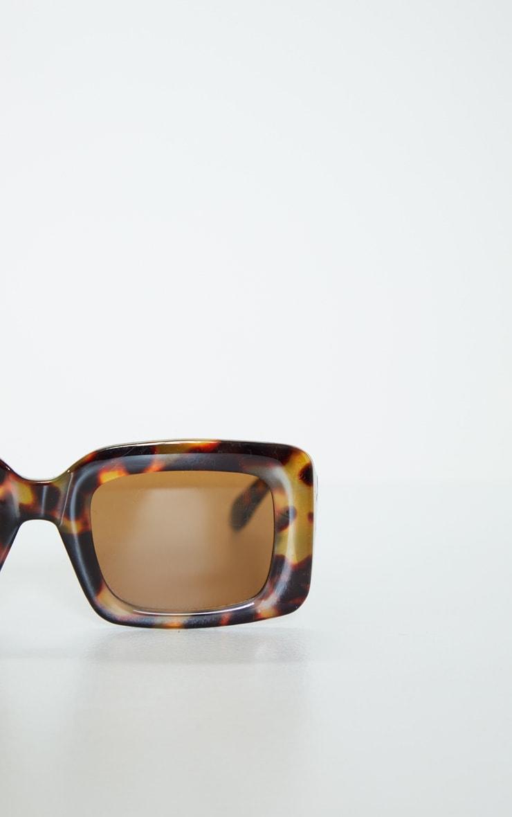 Tortoiseshell Rectangle Thick Frame Sunglasses 4