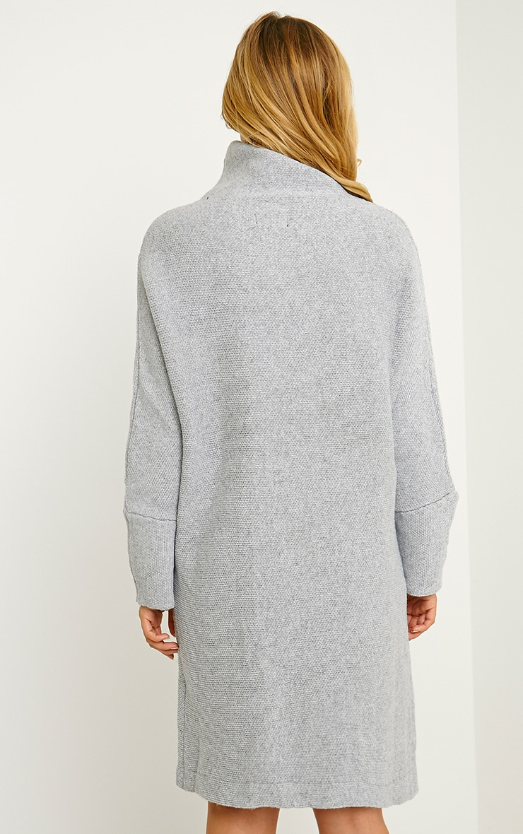 Nim Grey Oversized Knitted Dress 2