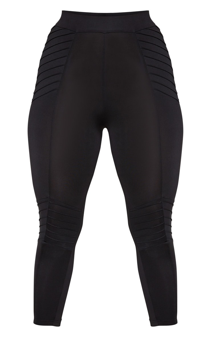 Black Ribbed 3/4 Gym Legging 3