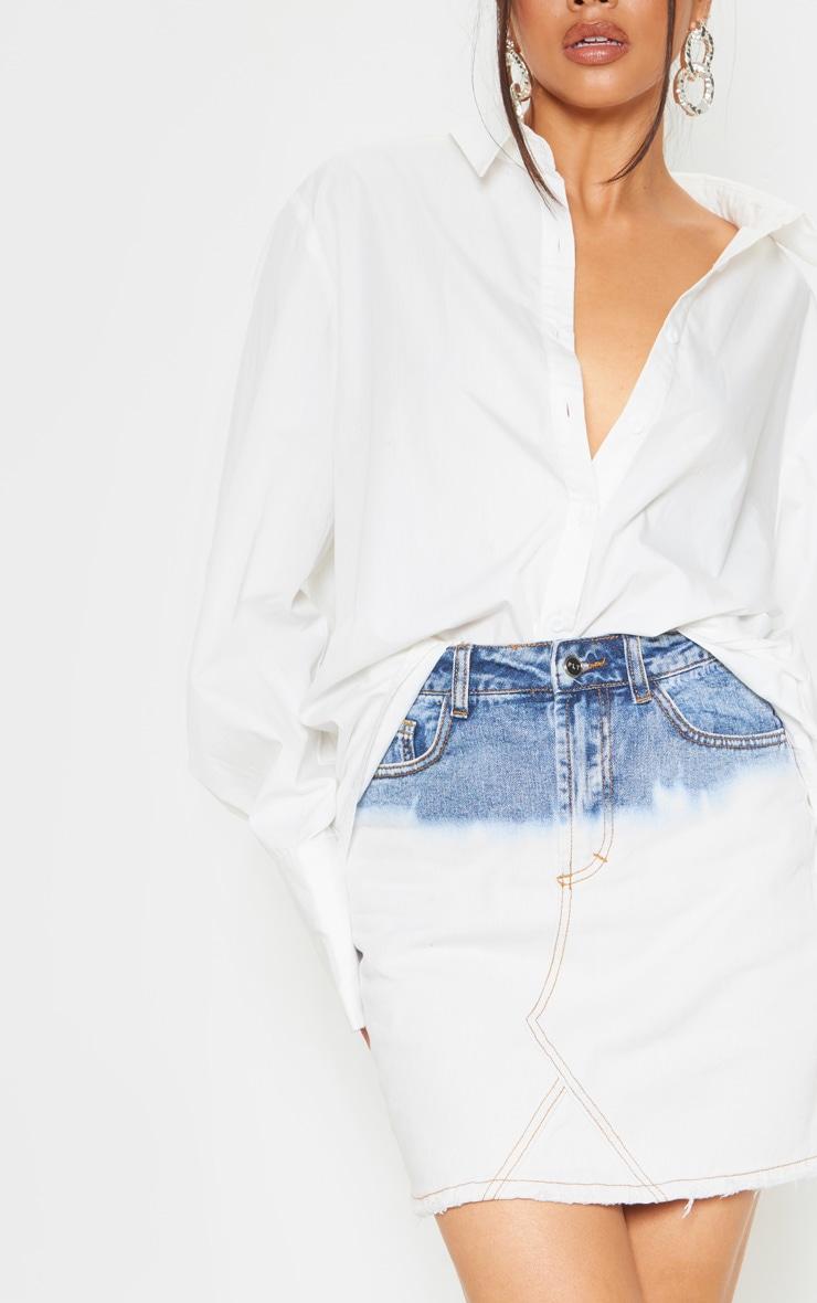 Ombre Denim Mini Skirt  6