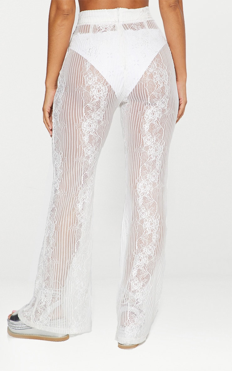 White Lace Insert Beach Flares 3