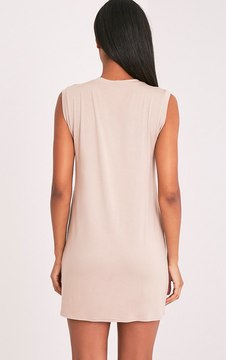 Lola Nude Sleeveless T-Shirt Dress 4