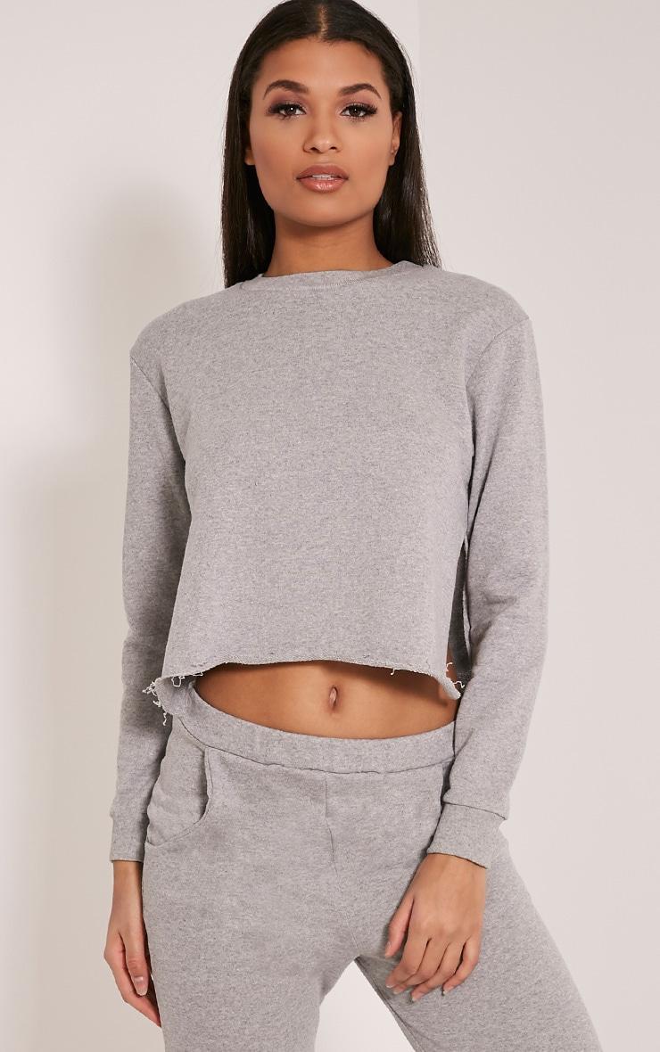 Ellia Grey Split Side Sweater 1