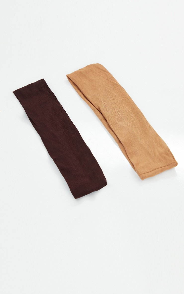 Tan And Brown 2 Pack Basic Headband 2