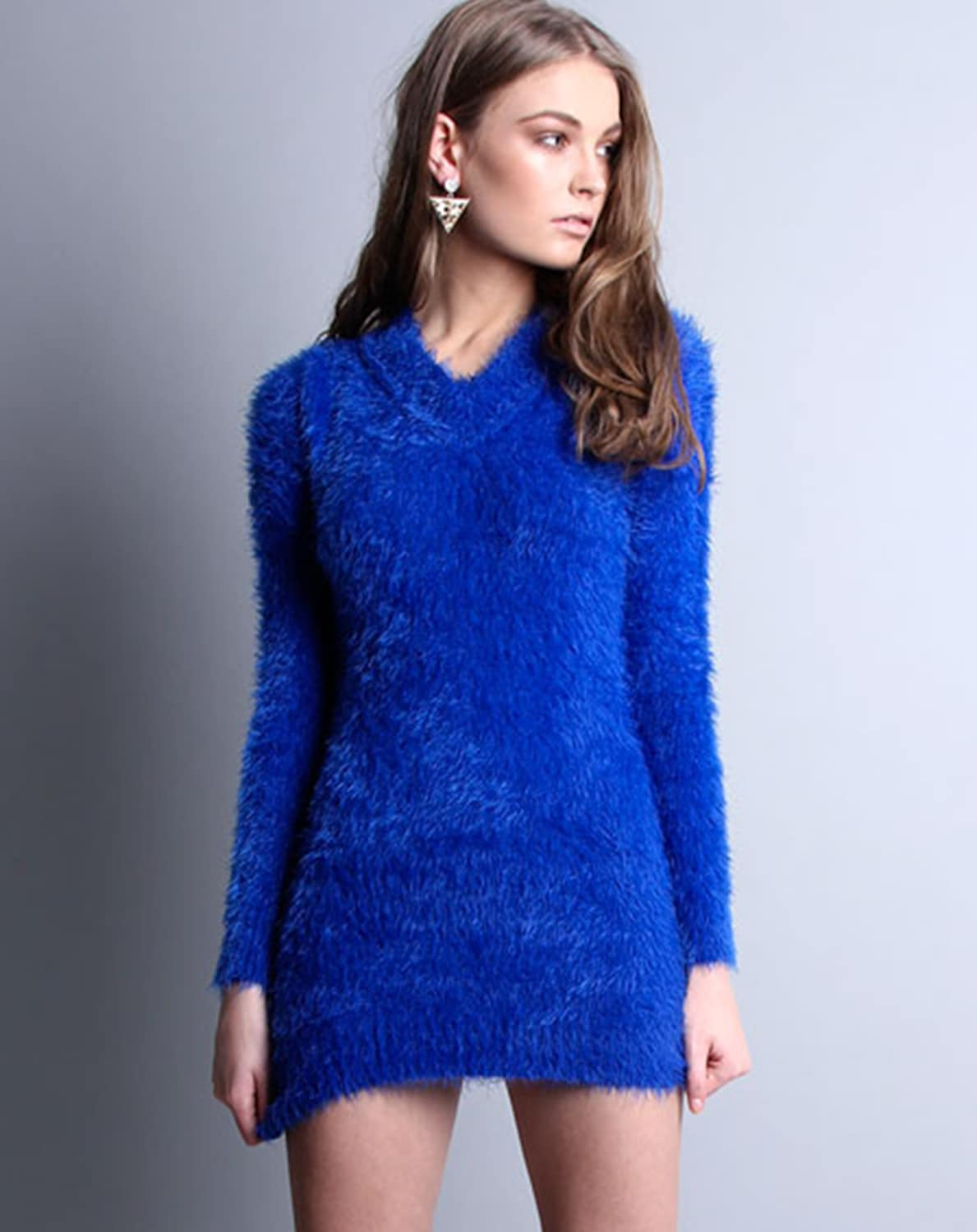 Harlie Fur Jumper Dress  1