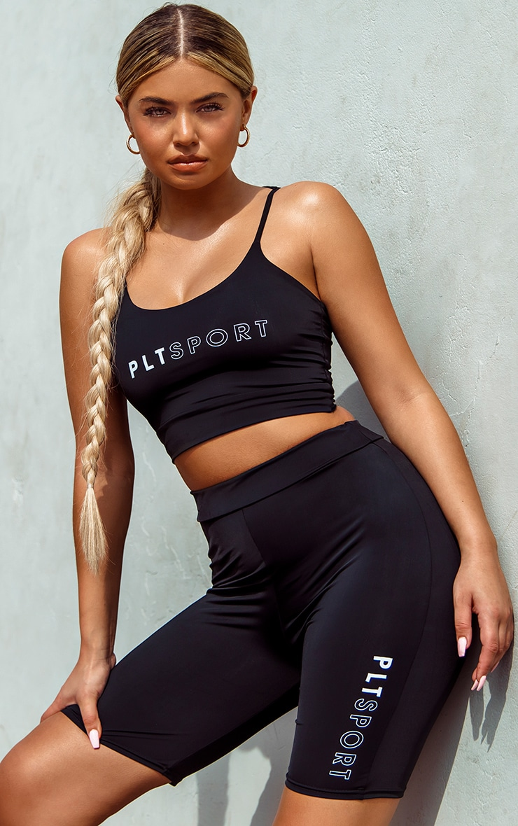 PRETTYLITTLETHING Sport Black Sports Bra 1