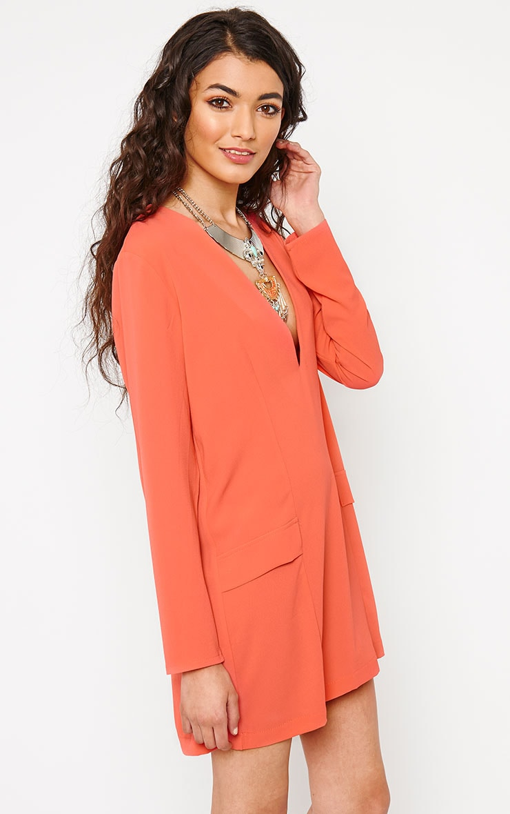 Jemima Coral Loose Fit Blazer Dress 4