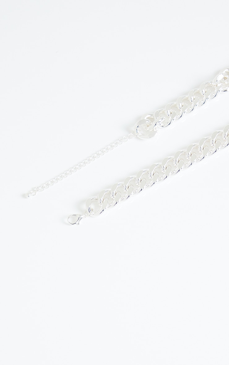 Silver Chunky Medium Chain Necklace 4