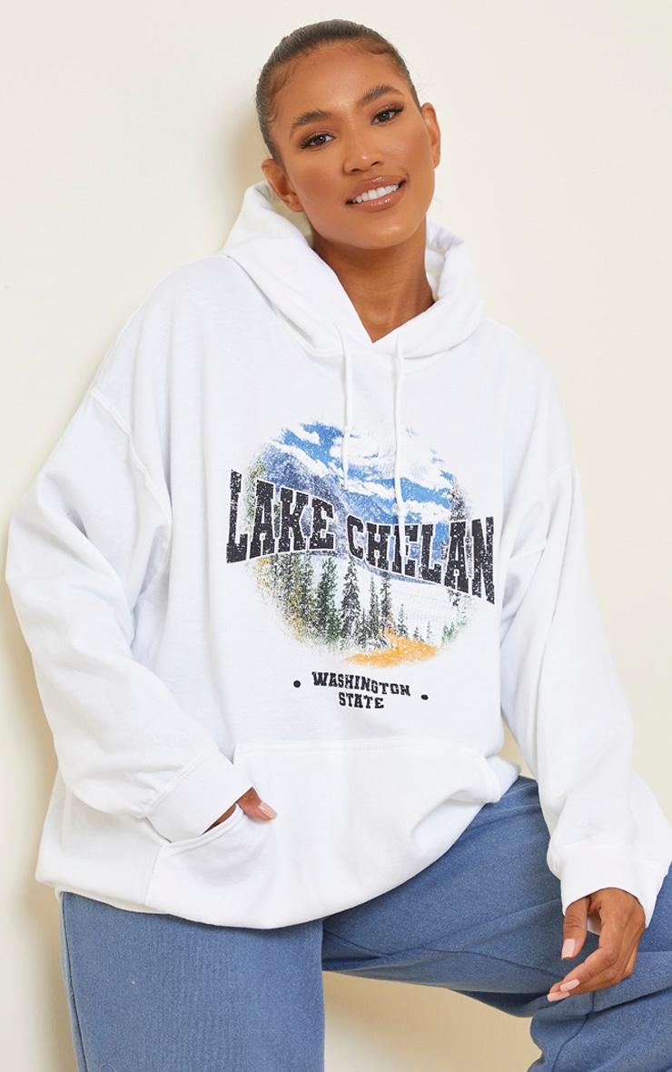 Cream Lake Chelan Printed Hoodie 1