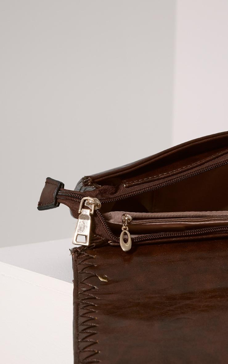 Ophelia Mocha Chain Detail Bag 7