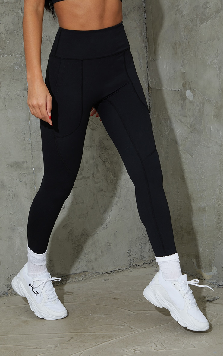 Black Sculpt Luxe Pocket Gym Leggings 2