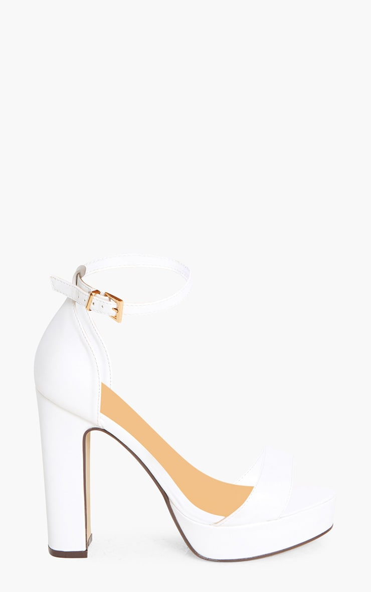 Taya White PU Platform Sandals 3