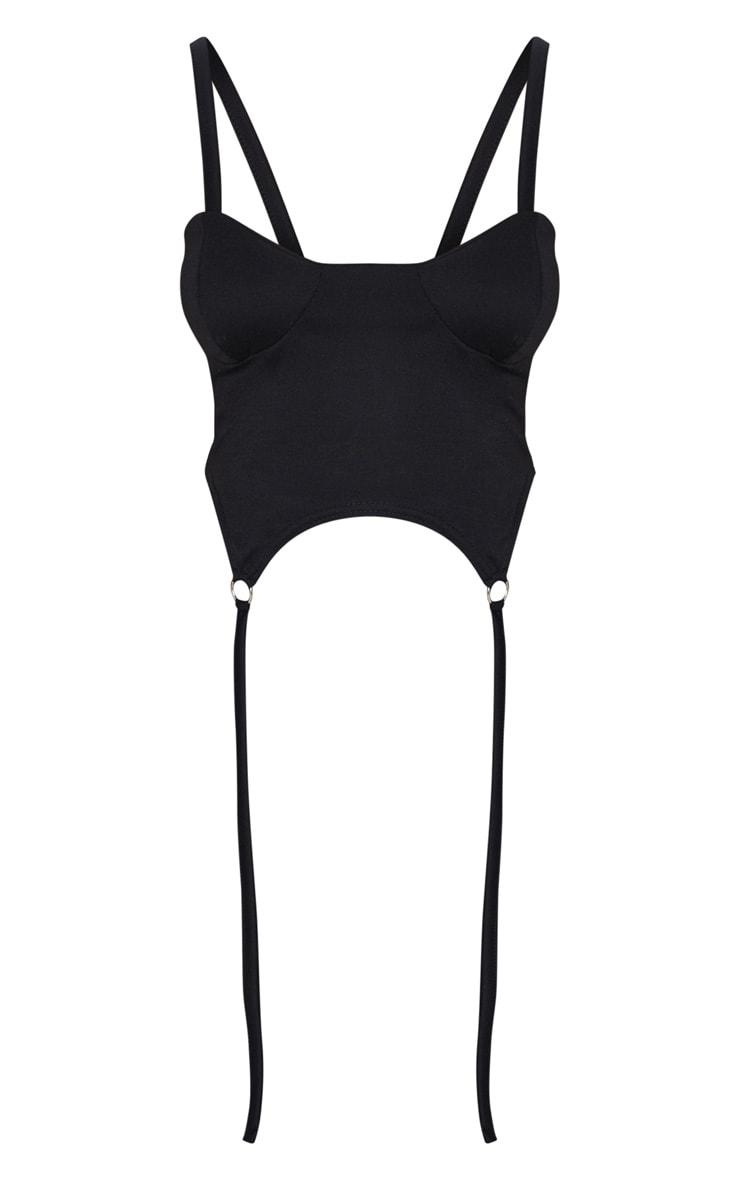Petite Black Sweat Corset Top 4