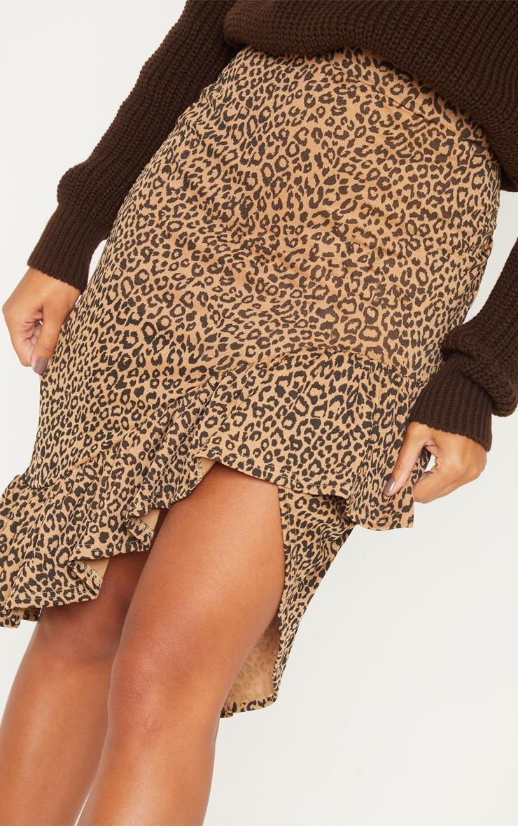 Leopard Print Frill Midi Skirt 5