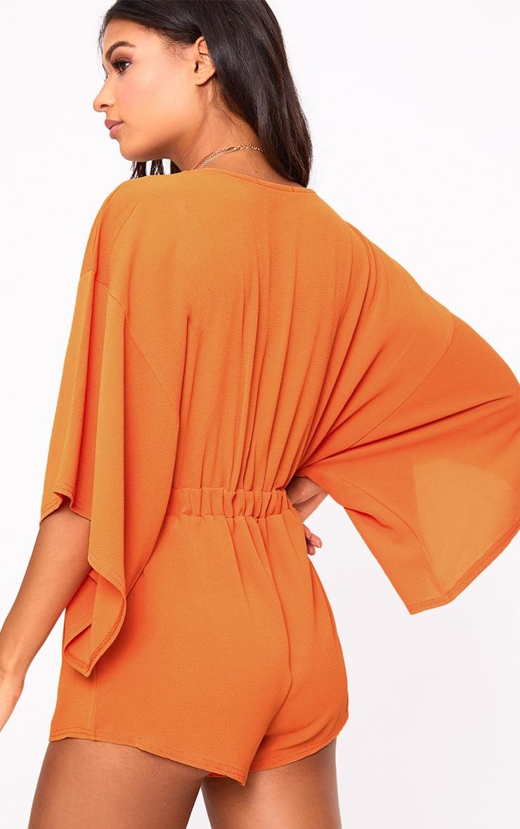 Hot Orange Kimono Playsuit 2
