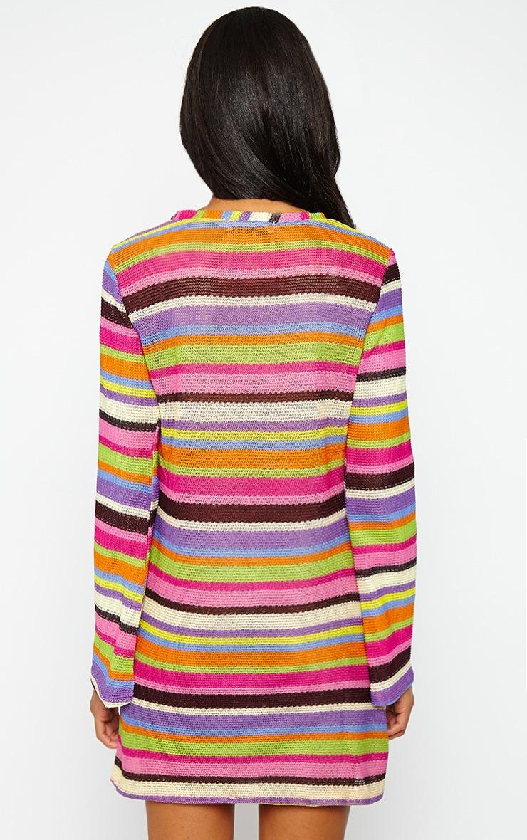 Misty Knitted Stripe Dress 2