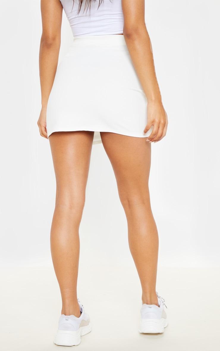 Cream Button Detail Skirt  4